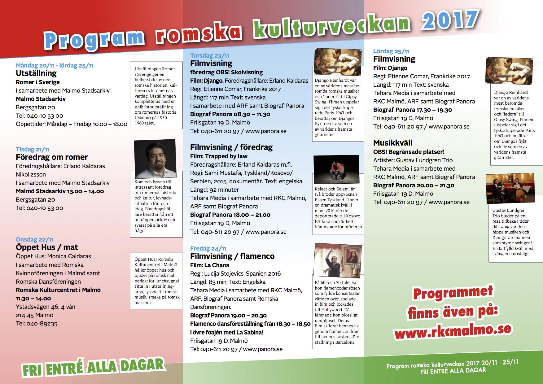 Program för romsk kulturvecka