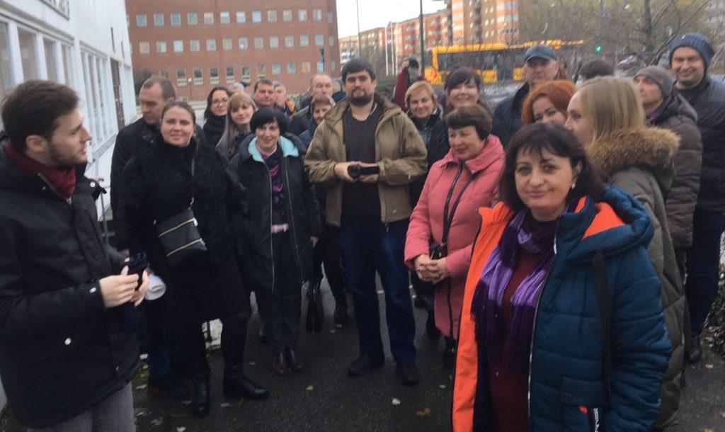 Besökare från Ukraina