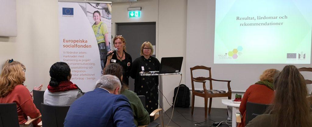 Louise Johnsson Zea och Maria Svenning
