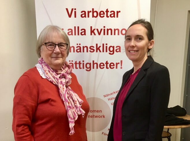 Jelica Ugricic och Maria Pålsson