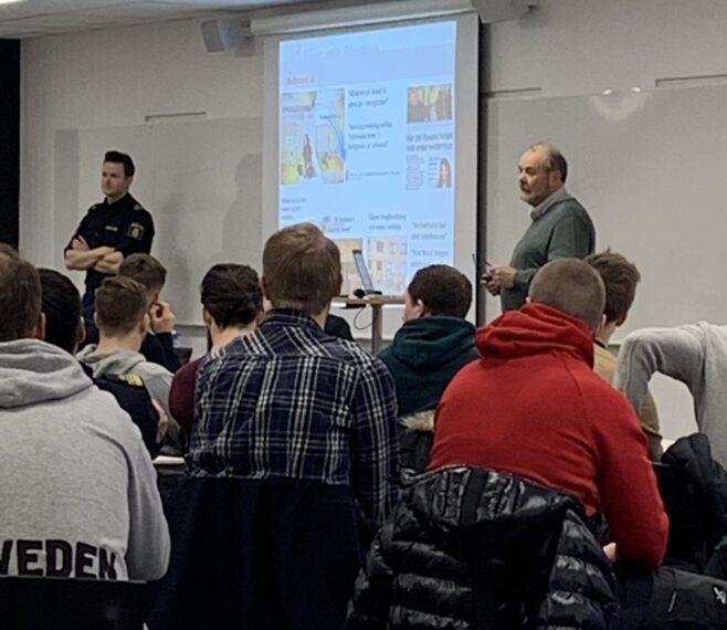 Freddy Nilsson och Hjalmar Falck föreläser